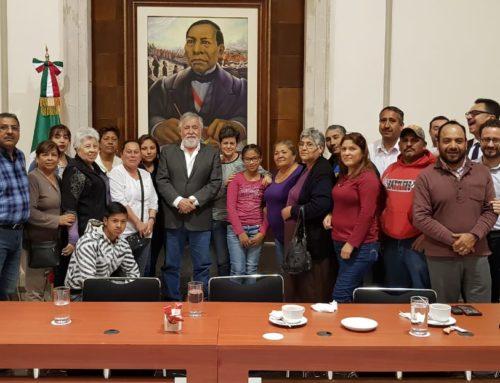 Reunión con familiares de mineros fallecidos en Pasta de Conchos. Coahuila