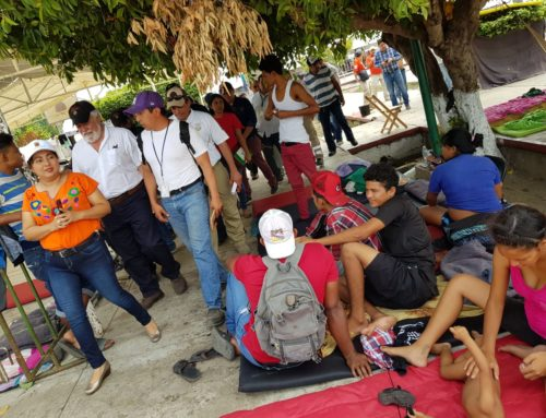 Recorrido por albergue y estación migratoria en Chiapas