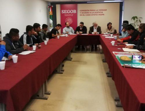 """Reunión con el colectivo """"Los olvidados de Ayotzinapa"""""""