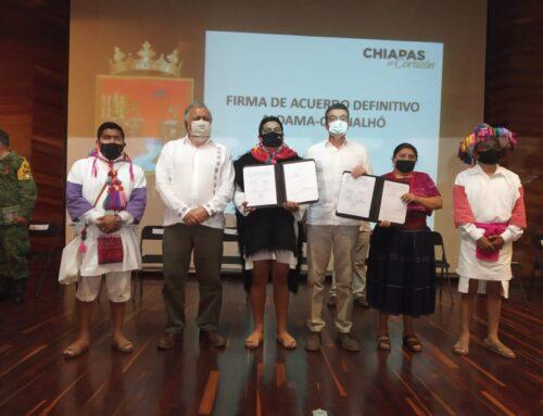 Firma de Acuerdo definitivo entre Aldama y Chenalhó